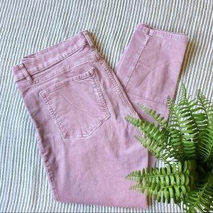 LOFT Lilac Corduroy Curvy Skinny Pants Size 29/8